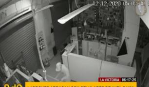 La Victoria: ladrones entran a galería en la madrugada y arrasan con celulares