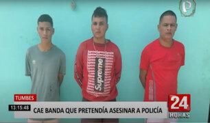 Banda 'Los Injertos del Sordo Vite' planeaban asesinar a un policía en Tumbes