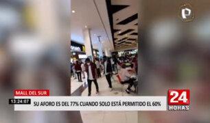 Mall del Sur: usuarios graban centro comercial con aforo 80%