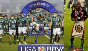 Pedro Aquino celebró título de Liga MX con chullo y bandera peruana