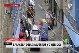 SMP: sujeto asesina a balazos a tres hombres que conversaban en una calle