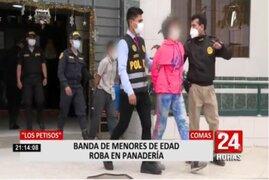 Vuelven a capturar a 2 integrantes de banda de menores de edad que robó minimarket hace unos días