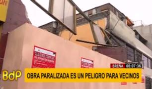 Breña: vecinos exigen a municipio dar solución a peligrosa obra paralizada