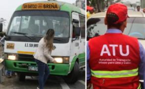 ATU: internarán en el depósito a cúster que atropelló a reportera en Surco