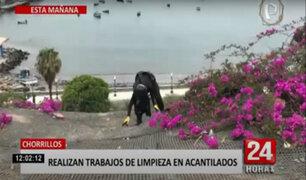 Realizan limpieza de basura de acantilados de Chorrillos