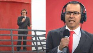 Daniel Peredo volvió gracias a la tecnología para dar mensaje a los peruanos