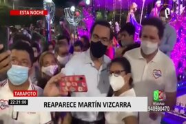 Martín Vizcarra reapareció en Tarapoto para realizar actividades proselitistas