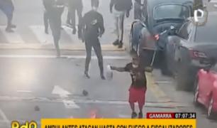 Gamarra: ambulantes usan hasta fuego para enfrentar a fiscalizadores
