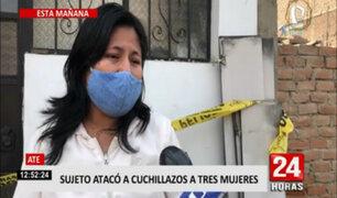 Ate: sujeto atacó a cuchillazos a tres mujeres y luego se autolesiona
