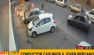 Chile: sujeto intentó atropellar a peruano en disputa por una mujer