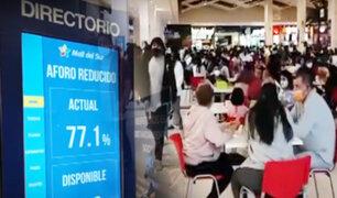 Chorrillos: Mall del Sur se pronuncia por aforo en el centro comercial