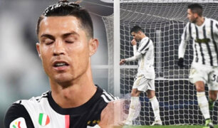 Cristiano Ronaldo falla penal y la Juventus empata