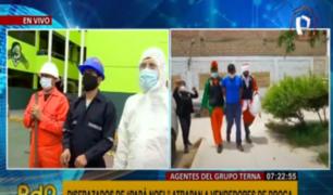 Grupo Terna se mimetiza en Mesa Redonda, Mercado Central y Gamarra para combatir delincuencia