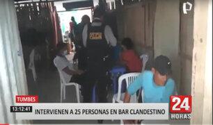 Tumbes: pese ser clausurado, bar clandestino funcionaba bajo fachada de restaurante