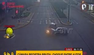 Cusco: cámara registró terrible choque en Av. La Cultura