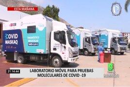 Laboratorios móviles recorrerán diversas regiones del país para realizar pruebas moleculares