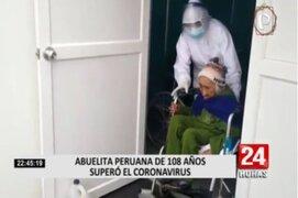 Bisabuela huancavelicana de 108 años logró superar contagio de Covid-19