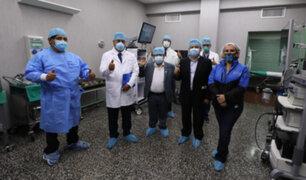 Junín: Presidenta de EsSalud y ministro de Justicia encabezaron operativos de despistaje molecular