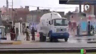 Callao: Mala maniobra de camión que transportaba gas ocasiona fuga