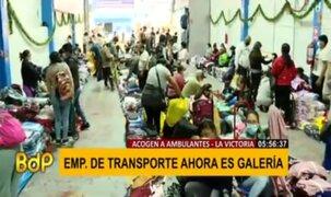La Victoria: ambulantes informales alquilan cocheras para vender sus productos