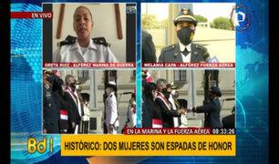El Perú hace historia: por primera vez dos mujeres reciben Espadas de Honor