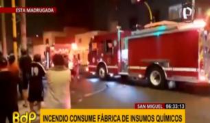 San Miguel: incendio en laboratorio causó pánico entre vecinos