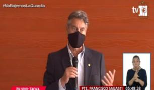 Sagasti pone a Tacna como ejemplo de lucha contra la pandemia COVID-19