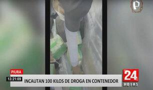 Piura: Policías incautan 100 kilos de cocaína que iba a salir del puerto de Paita