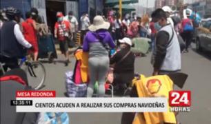 Cercado de Lima: cientos de personas acuden a Mesa Redonda a una semana de la Navidad