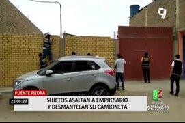 Puente Piedra: capturan a ladrones de autopartes que intentaron fugar por techos de casas