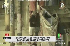 Ate: Delincuentes fingen ser pareja para robar autopartes