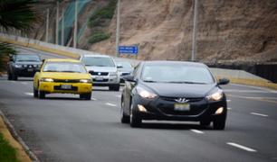 Costa Verde: impondrán multa de S/ 774 a quienes no respeten los límites de velocidad