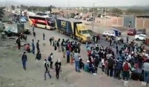 Trabajadores agroindustriales desbloquean Panamericana Norte tras dos horas de protestas