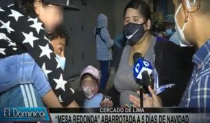 Mesa Redonda: padres incumplen indicaciones y acuden a realizar compras con sus hijos