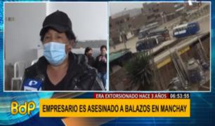 Manchay: familia de empresario asesinado pide justicia y denuncia inacción de policía de la zona