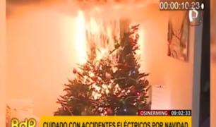 Navidad segura: las pautas de Osinergmin para fiestas sin accidentes en casa