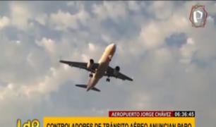 Controladores de tránsito aéreo anuncian paro desde este martes