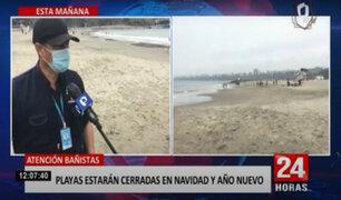 ¡Atención! playas de Lima estarán cerradas en fiestas de Navidad y Año Nuevo