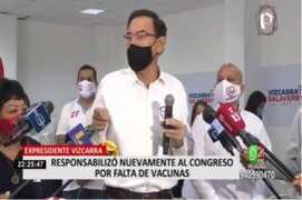 Martín Vizcarra responsabilizó nuevamente al Congreso por la falta de adquisición de vacunas
