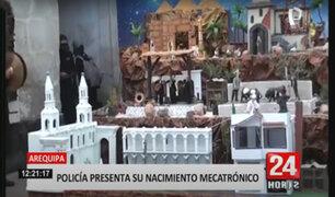 Arequipa: PNP presentó espectacular nacimiento mecatrónico