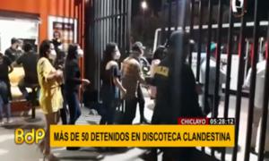 Intervienen a más de 50 personas en discoteca que atendía a puertas cerradas