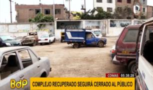 Comas: complejo polideportivo recuperado aún no será abierto al público