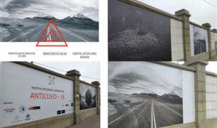 Fachada del Hospital Víctor Larco Herrera se convierte en gigantesca galería de arte