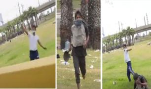 Pte. Atocongo: sujetos atacan a equipo de Panamericana mientras comprobaba una denuncia