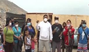 Más de 40 familias exigen al alcalde Miyashiro que cumpla con promesa  de entregarle terrenos