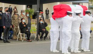Presidente Sagasti recibió cuerpo de oficial fallecido en ataque narcoterrorista en el Vraem