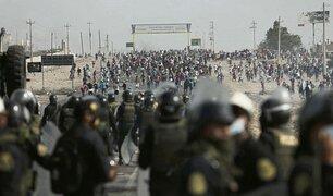Paro Agrario: manifestantes vuelven atacar a la PNP tras desbloquear vías de la Panamericana Sur