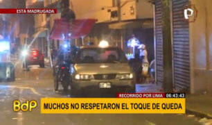 Ciudadanos no acatan toque de queda pese a restricciones por Navidad