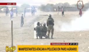 Paro Agrario: pasajeros se exponen por pasar ante bloqueo de Panamericana Sur