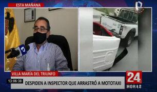 Alcalde de VMT se compromete a reparar mototaxi destruido por mal fiscalizador